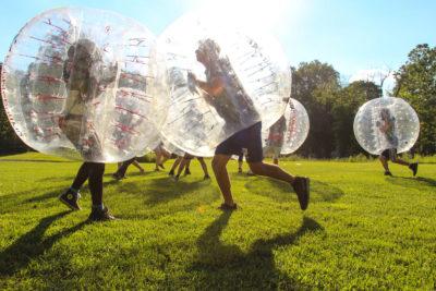 Sunset Bubble Soccer Team Building Ideas