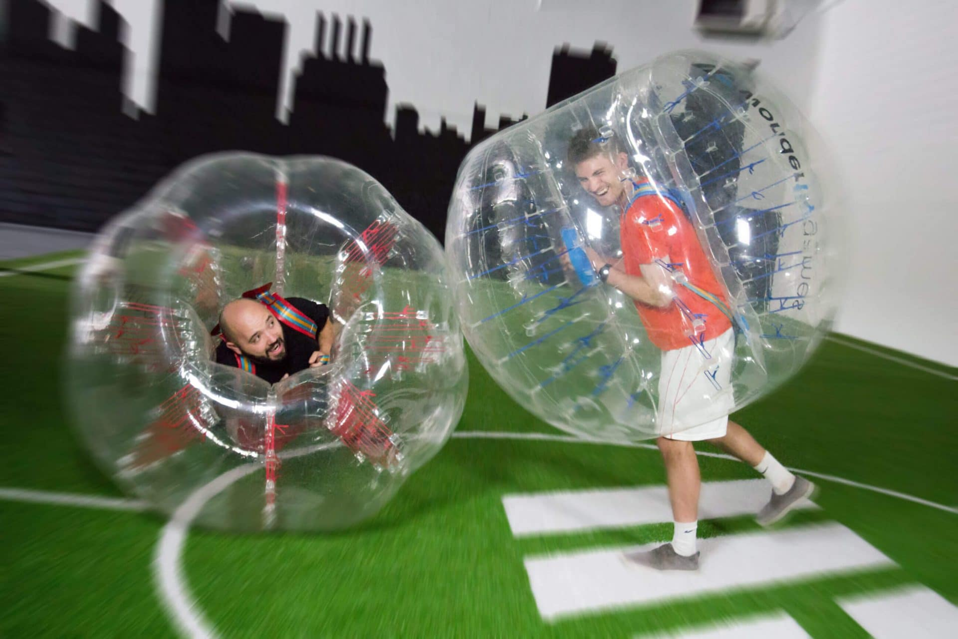 indoor bubble soccer